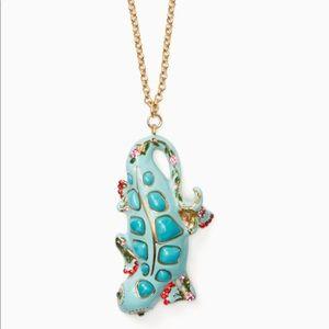Kate Spade ♠️ Baja Bound Gecko pendant necklace